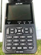 """Satlink WS-6906 DVB-S Digital Satellite Signal Finder SAT Meter 3.5"""" LCD Display"""