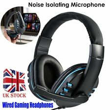 3.5mm Wired Gaming Headset Music Headphone Mic Chat For Laptop PS3 PS4 PC Xbox