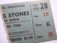 ROLLING STONES 1966 Original__CONCERT TICKET STUB__Buffalo, NY__NM-