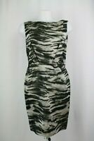 Lanvin Sleeveless Animal Print Silk Blend Dress, Size: UK 12/EU 40/US 8