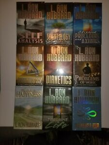 L. Ron Hubbard Scientology hardcover Book Lot Of 9 NEW Still plastic wrapped.