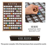 100 Scratch Off Beers Bucket List Fun Challenge Novelty Gift Idea Posters