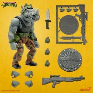 """Super7 TMNT Ultimates Rocksteady 7"""" Figure Teenage Mutant Ninja Turtles In Stock"""