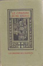 LE CANZONI DI RE ENZIO canzone dell'olifante Giovanni Pascoli I edizione 1908 *