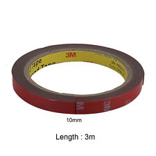 3M/Roll Red Car Truck Automotive Acrylic Plus Double Sided Attachment Tape 10mm