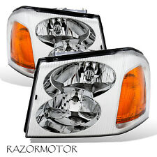 2002-2009 Replacement Headlight Pair For GMC Envoy With Hi/Lo Beam Bulb
