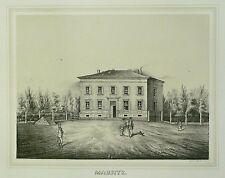 Tonlithografie 1854 - ZWENKAU Rittergut Mausitz - Poenicke