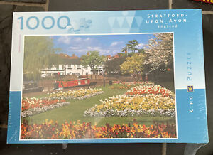 King Puzzle Jigsaw, 1000 pc, Stratford-Upon-Avon, England (new Factory Sealed)