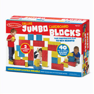 MELISSA DOUG DELUXE JUMBO CARDBOARD BLOCKS 40 PC
