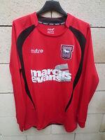 VINTAGE Maillot IPSWICH TOWN 2009 MITRE away shirt manches longues trikot S