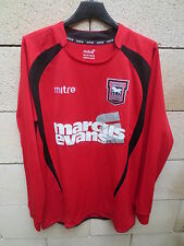 VINTAGE Maillot IPSWICH TOWN 2009 MITRE away shirt manches longues trikot S