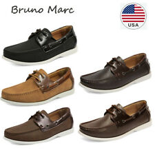 Bruno Marc  Men's Casual Moccasins Loafer Classic  lace up Stylish Boat Shoes
