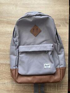 Herschel Supply Co. Heritage Grey Tan Backpack One Size Unisex, Back To School