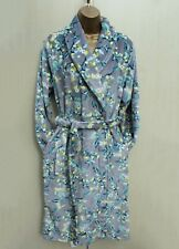 Next Grey Floral Print Super Soft Fleece Dressing Night Gown Robe Small 8-10 UK