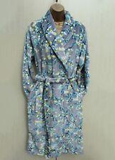 Next Grey Floral Print Super Soft Fleece Dressing Night Gown Robe Med 12-14 UK