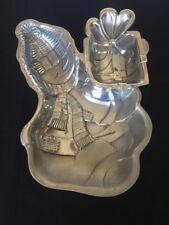 Lenox Yuletide Snowman Chip and Dip Metal Holloware Serving Tray
