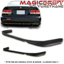 For 99-00 Honda Civic EK Coupe / Sedan CTR TR Type-R Style JDM REAR Bumper Lip