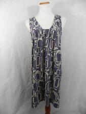 CALVIN KLEIN JEANS women XL Purple OP-ART Sleeveless Shift DRESS Summer Sun  g36