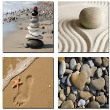 Art Sea Beach Pictures Paintings Home Decorations Romantic Beach Theme 4 Pieces