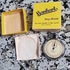 Working Hanhart 1 Jewel Shockproof Stopwatch 1/10 Sec Orig Box