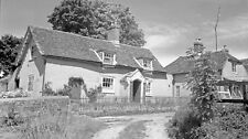 B/W Negative Chilcomb Hampshire Village Scene 1947 +Copyright W67