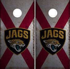 Jacksonville Jaguars Cornhole Wrap NFL Logo Skin Game Board Set Vinyl Decal CO12