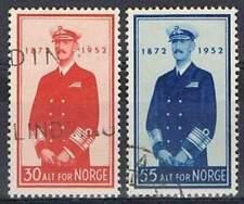 Noorwegen gestempeld 1952 used 376-377 - Koning Haakon
