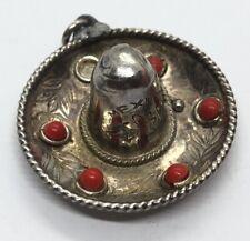 Vintage Sterling Silver Necklace 925 Pendant Mexico Sombrero