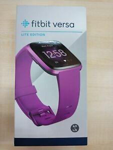 Reloj deportivo - Fitbit Versa Lite, Morado, Actividad, Sueño, Sumergible, Apps