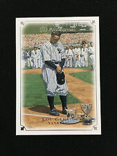 """LOU GEHRIG INSERT """"UD MASTERPIECES"""" 7-4-39 """"LOU GEHRIG DAY"""" RETRO BASEBALL CARD"""