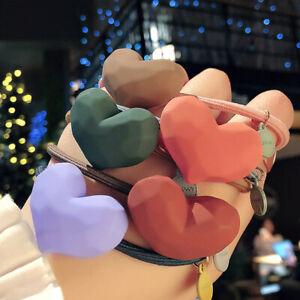 Matte Women Heart-shaped Scrunchies Elastic Hair Ties Hair Rope Hair Accessories