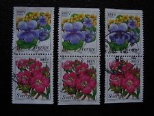 SUEDE - timbre yvert et tellier n° 2043 2044 x3 obl (A29) stamp sweden (Q)