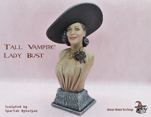 Lady Dimitrescu fanart bust resin Resident evil Garage Kit|Model Kit|Unpainted