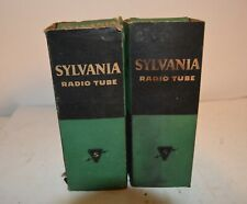 MATCHED PAIR OF SYLVANIA DOUBLE PLATE 2A3 AMPLIFIER TUBES IN THE ORIGINAL BOXES