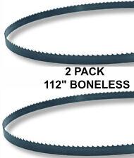 112x58x3tpi 2 Pack Boneless Bandsaw Blades Meat Cutting Fits Hobart 5014