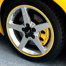 YELLOW SCUFFS ULTRA by Rimblades Car Alloy Wheel Rim Protectors Tyre Guard Line