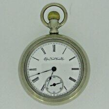 Antique 1898 Elgin National Watch Co. Silver Tone 18s 7j Pocket Watch Parts Stea