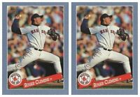 (2) 1993 Hostess Baseball #27 Roger Clemens Baseball Card Lot Boston Red Sox