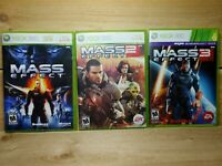 Mass Effect 1 2 & 3 on Microsoft Xbox 360 Complete Tested Bioware EA