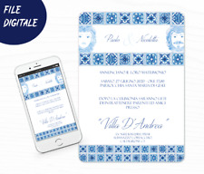 invito Digitale Maiolica matrimonio personalizzato file  invio 24 ore