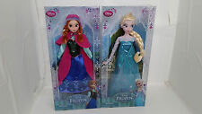 "1st Authentic Disney Store Frozen Elsa Anna 12"" Classic Doll Set Barbie Princess"