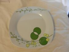 White With Green & Yellow Leaves Porcelain Dinner Plate Aramco Alpine Cuisine