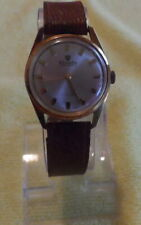 Vintage Mens Nivada 17 Jewels Compensamatic Gold Plated Mech. Wind (36048)