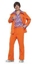 Ocio Traje Años 70 Disfraz Adulto Naranja Forum Novelties 64242 Rock&Roll
