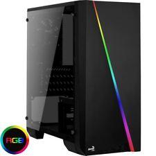 Aerocool Cylon Mini Black Micro ATX Gaming PC Case Tempered Glass Panel RGB LED