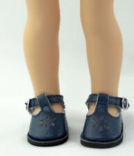 Navy T-Strap Doll Shoes For 14.5 Inch Wellie Wishers American Girl Doll Clothes