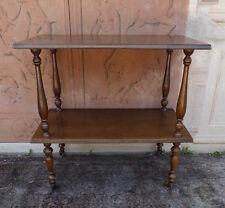 Tavolino carrello da sala a due piani epoca '900, restaurato