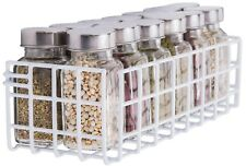 Practa Solutions LARGE SPICE RACK 385x100x70mm Easy To Clean, White PE Coating