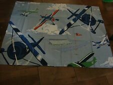 """POTTERY BARN KIDS VINTAGE AIRPLANES SHAM 30X23"""" FOR THE AIRPLANE LOVER"""