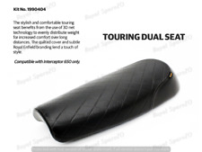 100%  Fit for Royal Enfield Touring Dual Seat Black for Interceptor 650